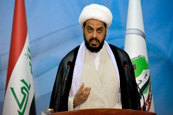 تاکید الخزعلی بر مخالفت با درگیری های مسلحانه در عراق