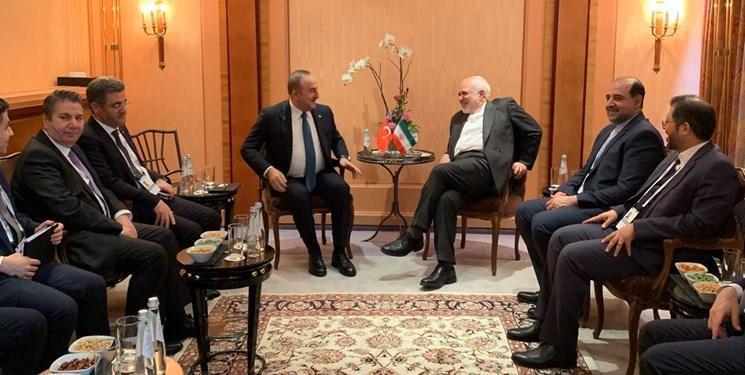 ظریف و همتای ترکیه ای در مونیخ ملاقات کردند