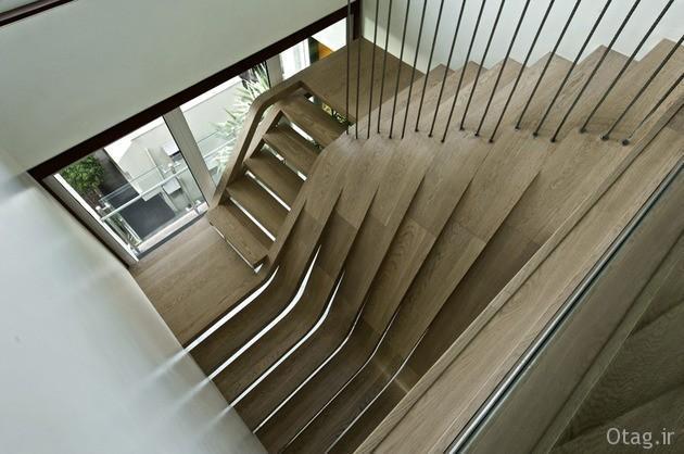 دکوراسیون آپارتمان عظیم 528 متری با راه پله ایی عجیب و شگفت انگیز