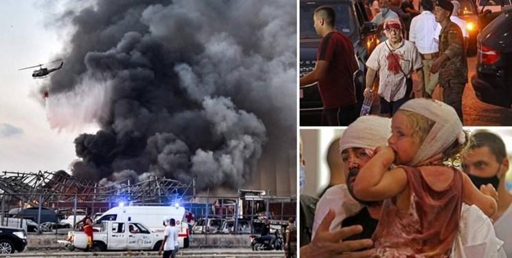 احتمال افزایش شمار قربانیان انفجار بیروت؛ 154 کشته و 6 هزار زخمی