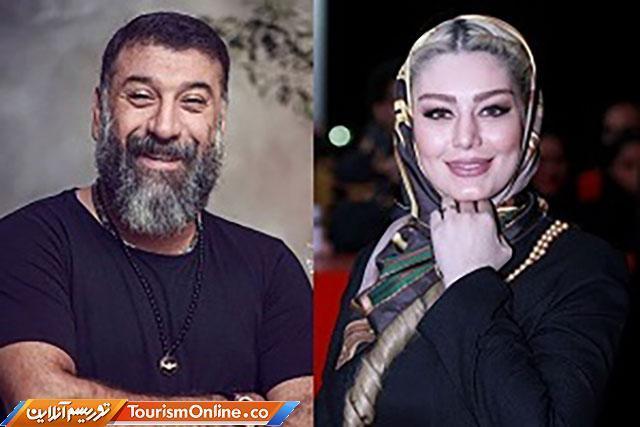 سحر قریشی و علی انصاریان با گریم عجیب و غریب، تصاویر