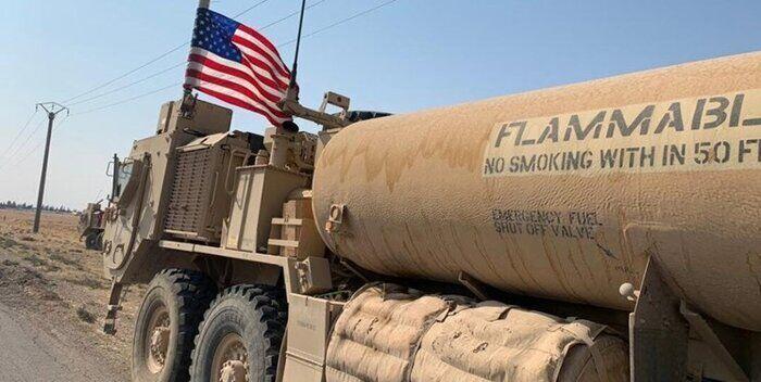 کاروان آمریکایی حامل نفت سرقتی سوریه وارد عراق شد