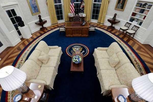 دکوراسیون جدید اتاق بیضی کاخ سفید