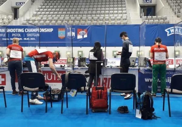 عنوان ششمی و یازدهمی تیم های میکس تپانچه ایران در مسابقات قهرمانی اروپا