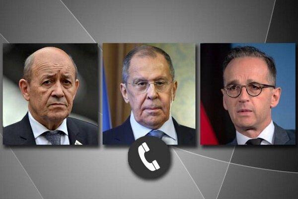 وزرای خارجه روسیه، فرانسه و آلمان تلفنی مصاحبه کردند