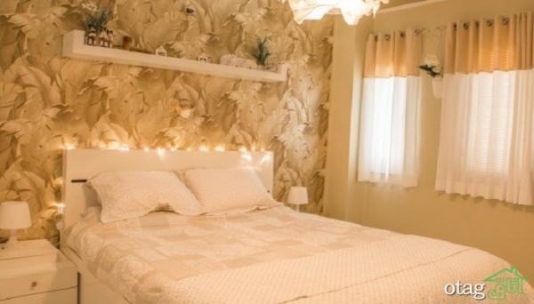48 مدل کاغذ دیواری اتاق خواب [ فوق لوکس ] با رنگ شاد و زیبا ، 1400